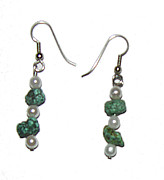 Pierced Ears Jewelry - Jade in the Rough by Adele Greenfield