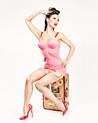 Woman Greeting Cards Posters - Jade Vixen Bubblegum 1076 Poster by Gary Heller