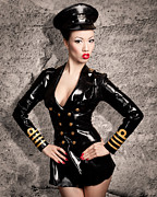 Latex Framed Prints - Jade Vixen military 1143 Framed Print by Gary Heller