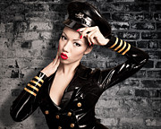 Fetish Photography Posters - Jade Vixen military 1145 Poster by Gary Heller