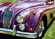 Car Framed Prints - Jaguar 140 Coupe Framed Print by David Kyte