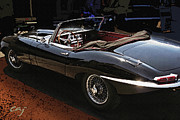 Kirkland Prints - Jaguar E-Type at The Race Track Print by Curt Johnson