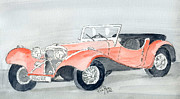 Classic Cars Originals - Jaguar by Eva Ason