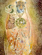 Ascension Mixed Media Posters - Jaguar Princess Poster by Carol Sabez