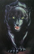 Vicious Painting Prints - Jaguar Prowl Print by Unique Consignment