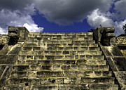 Mayan Jaguar Prints - Jaguar Stairway two Print by Ken Frischkorn