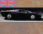 Kirkland Prints - Jaguar XJ 220  Long Pedigree  Print by Curt Johnson
