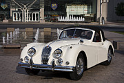 Vintage Auto Prints - Jaguar XK 140 Print by Dennis Hedberg