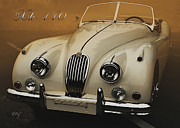 Kirkland Prints - Jaguar XK-140 Summer Morning   Print by Curt Johnson