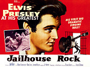 1950s Movies Photo Framed Prints - Jailhouse Rock, Elvis Presley, 1957 Framed Print by Everett