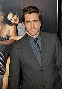 Blue Shirt Framed Prints - Jake Gyllenhaal At Arrivals For Afi Framed Print by Everett