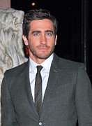 Gray Suit Framed Prints - Jake Gyllenhaal At Arrivals For Finca Framed Print by Everett