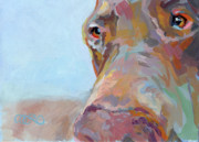 Doberman Paintings - Jake by Kimberly Santini