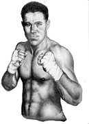 Sports Figure Drawings Posters - Jake Shields Poster by Audrey Snead