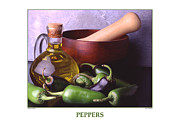 Wooden Bowl Prints - Jalapeno Peppers Print by Jerry Taliaferro