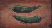 Pepper Paintings - Jalapenos by Callie Smith