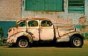 Old Car Metal Prints - Jalopy Metal Print by Skip Hunt