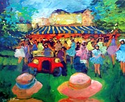 Concert Painting Originals - Jalopy to the party by Valtier