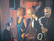 Singers Pastels - Jam Session by Kevin Harris