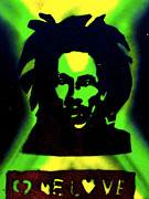 Civil Rights Paintings - Jamaica 1 Love by Tony B Conscious
