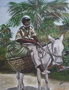 Jamaican Donkey Power Print by Kim Selig