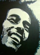 Rastafarian Paintings - Jamaican Rastaman by Una  Miller