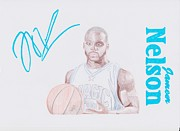 Nba Drawings Framed Prints - Jameer Nelson Framed Print by Toni Jaso