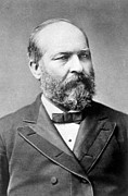 Garfield Framed Prints - James A. Garfield 1831-1881, U.s Framed Print by Everett
