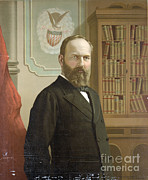 James Garfield Framed Prints - James A. Garfield, 20th American Framed Print by Photo Researchers