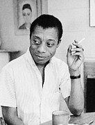 Baldwin Framed Prints - James Baldwin (1924-1987) Framed Print by Granger