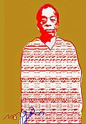 Harlem Mixed Media Prints - James Baldwin Print by Noredin Morgan
