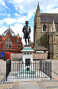 Notice Board Framed Prints - James Boswell Statue - Lichfield Framed Print by Rod Johnson
