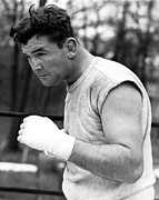 Boxer Framed Prints - James Braddock In Training For Upcoming Framed Print by Everett