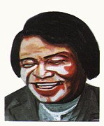 Art Of Soul Singer Drawings - James Brown by Emmanuel Baliyanga