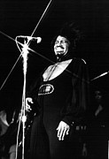Microphone Stand Prints - James Brown, In Concert 2121974 Print by Everett