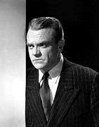 1950s Portraits Prints - James Cagney, Portrait, 1950s Print by Everett