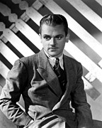 Mustache Framed Prints - James Cagney, Portrait From Torrid Framed Print by Everett