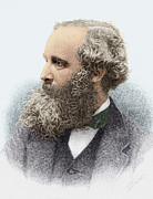 Clerk Posters - James Clerk Maxwell, Scottish Physicist Poster by Sheila Terry