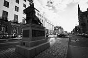 New Town Prints - James Clerk Maxwell Scupture At The East Side Of George Street In The Georgian New Town Edinburgh Sc Print by Joe Fox