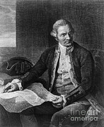 1779 Posters - James Cook, English Explorer Poster by Photo Researchers