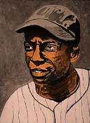 Baseball Painting Framed Prints - James Cool Papa Bell Framed Print by Ralph LeCompte