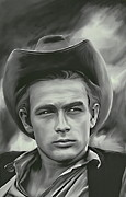 Actors Pyrography Framed Prints - James Dean   Framed Print by Andrzej  Szczerski