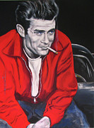 Dean Framed Prints - James Dean - Picture in a Picture Show Framed Print by Eric Dee