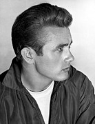 Story-hairstyles Prints - James Dean, 1955 Print by Everett