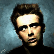 James Dean Prints - James Dean Print by Arne Hansen