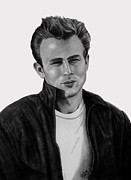 James Dean Drawings - James Dean by Chris Cox