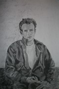 James Dean Drawings - James Dean by Christian Fralick