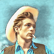 James Dean Framed Prints - James Dean II Framed Print by Arne Hansen