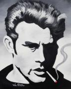 Joseph Palotas Painting Framed Prints - James Dean  Framed Print by Joseph Palotas