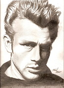 Bad Drawing Framed Prints - James Dean Framed Print by Michael Mestas